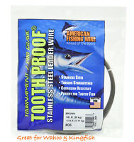 AFW Tooth Proof Stainless Steel Fishing Wire Leader 1/4lb #6 Tournament Kingfish