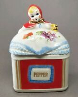 Vintage Hull Pottery / Regal China Little Red Riding Hood PEPPER Spice Jar NICE