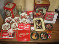 Collectible Coke Tin can Box cola soda memorabilia LOT