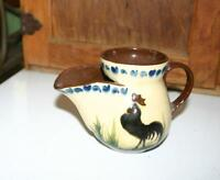 RARE TORQUAY, MOTTO WARE, SHAVING MUG, COCKEREL PATTERN,  SOUVENIR