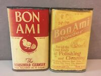 2 Antique 30's Collectible Vintage Bon Ami Household Cleaning Powder Unopened