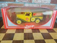 VINTAGE TOY COCA COLA YELLOW DIECAST PICK-UP TRUCK 1979 HARTOY NIB FRENCH BOX