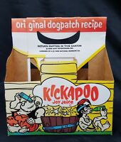 1965 Kickapoo Joy Juice 6 Pack Cardboard Bottle Carrier Mint Condition