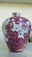ANTIQUE Chinese JUN WARE CRYSTALLINE Pottery JON PRICE 7quot; VASE BOTTLE URN