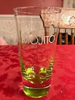 Set of 6 Bacardi Green Mojito Cocktail Glasses 20 Ounce 6 1/2