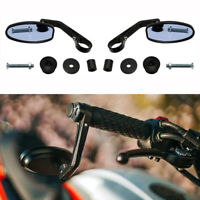 Universal Bar End Mirrors 7 8quot; Black Motorcycle For Racer Bobber Chopper Cruiser $21.56