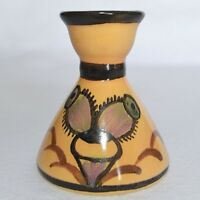Egersund Art Pottery Norge 15 Candle Holder Candlestick Hand Painted Insect Fly