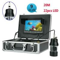 9 Inch Color 20m Underwater Fishing Video Camera Fish Finder 22 LEDs