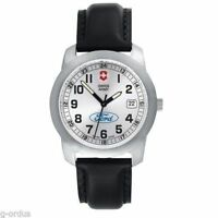 RARE BRAND NEW MENS FORD MOTOR COMPANY GENUINE VICTORINOX SWISS ARMY FIELD WATCH