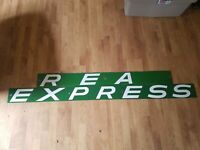 Large Antique Railway Express Agency Railroad 122