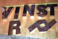 Vintage Metal Letter Letters Chrome Marquee Hot Rod Car TOOL Sign