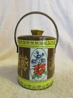 Vintage Murray Allen tin quot;Floralquot; Colorful Handled Made in England