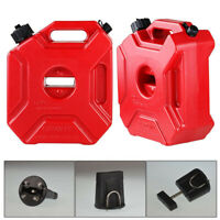 Plastic 5L Jerry Can Gas Diesel Fuel Tank For Car ATV Motorcycle w/ Mounting Kit