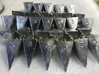 3 oz PYRAMID SURF FISHING SINKERS WEIGHTS  3 ounce 10-20-30 quantity