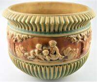 Roseville Pottery Donatello Planter from 1915 made in USA Original Label