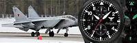 KHS Tactical Pilot Watches Black Chrono Army Band Swiss Movement KHS.AIRBSC.NO