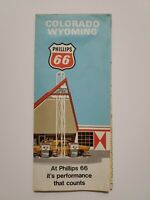 Vintage 1971 Phillips 66 Map Of Colorado Wyoming 26quot;x18quot;