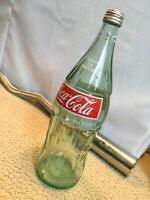 Vintage 32 oz. Glass Coca Cola Bottle With Cap ( Rare )💰 Back Bottle From 1975?