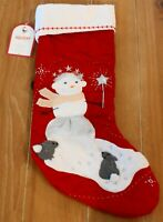 New Pottery Barn Kids QUILTED SNOWGIRIL Christmas Holiday Stocking - 20
