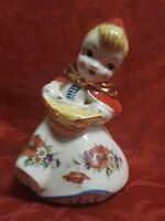Beautiful Vintage Hull Little Red Riding Hood Porcelain Bank