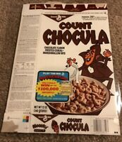 Vintage Pouring Milk Count Chocula Cereal Box Series 79 Money Machine Game