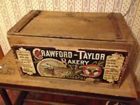 Crawford Taylor Cracker Biscuit Wooden Box Factory Building Ohio