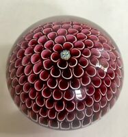 VTG SIGNED  ST.LOUIS GLASS RED HONEYCOMB PAPERWEIGHT 1974-LIMITED EDITION