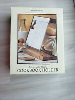 New Old Stock Maple Wood Acrylic Cookbook Stand Holder Williams-Sonoma 2004 Book