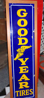 Vintage Porcelain on Steel Goodyear Tire Sign