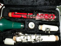 GIOVANNI CLARINET RED WHITE and GREEN LIGHTLY USED w/ CASE ~RARE~ INSTRUMENT