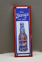 DRINK BARQ'S ROOT BEER PORCELAIN SIGN GAS OIL CAR FARM   A & W DADS soda pop