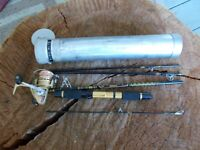 VTG DIAWA MINI MITE FISHING POLE REEL SPINNING COMBO BACKPACKING TRAVEL MM-59