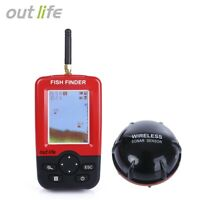 Portable Fish Finder with Wireless Sonar Sensor LCD Display