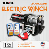 X-BULL Electric Winch 3000LBS 12V Steel Cable UTV Winch ATV Winch 4WD Off Road