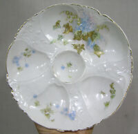 Vtg Austria Oyster Plate Lily of the Valley Forget Me Nots