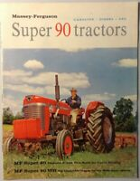 VINTAGE 1962 MASSEY-FERGUSON SUPER 90 TRACTORS CATALOG BROCHURE FARM EQUIPMENT
