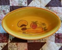 1971 Vintage Los Angeles Pottery Potteries Ovenwear Oval Dish #602