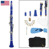 17-Key ABS Double-Tube Clarinet White Copper-Plated Nickel Button J4U8