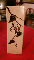 VMTG JAPANESE MASHINKO POTTERY FLOWER VASE  13' EXCELLENT