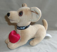 6quot; plush Taco Bell talking dog Valentine#x27;s gift red heart says sexy quot;Grroowllquot;