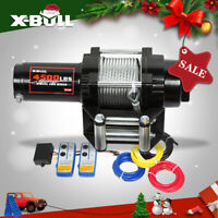 X-BULL 4500LBS Electric Winch 12V Recovery Winch UTV ATV Winch 4WD Steel Cable
