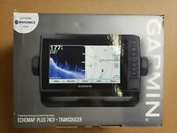 Garmin ECHOMAP PLUS 74CV+ GT23M-TM TRANSDUCER w/ Preloaded Charts 010-01894-05