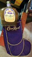 CROWN ROYAL WHISKEY Vintage ADVERTISING SIGN DISPLAY Fabric Bottle LIQUOR AD