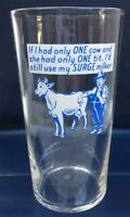 Rare Surge Milker Tumbler Glass with Surge Advertising