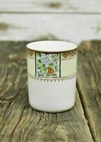 Vintage Nippon Hand Painted White Water Cup Pitcher W/ Floral Design 3.25