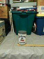 Old Reliable Steel Cut Coffee [Dayton, Ohio] 1929 Metal Can w/ Label Vtg Java