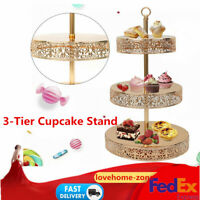 3Layer Metal Cupcake Stand Holder Wedding Party Dessert Carrier Display US STOCK