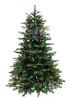 European Balsam Fir Artificial Christmas Tree Pre-lit with Dual Color LED Lights