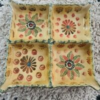 Italica Ars Italy Hand Painted Floral Italian Pottery Serving Plate 8x8