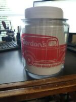 Repop of 1930's Gordon's 1 gal. Peanut Store Display Jar & Lid